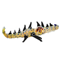 "Picture of 8"" FUMED CROCODILE"