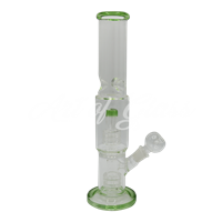 """Picture of 12"""" STRAIGHT TUBE w DOUBLE BARREL PERC INLINE & ICE PINCH"""