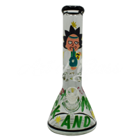 Picture of HAND PAINTED RICK + MORTY BEAKER (STYLE 2)