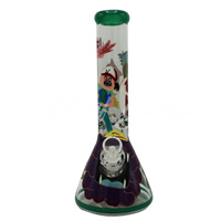 Picture of HAND PAINTED RICK + MORTY BEAKER (STYLE 3)