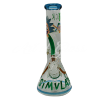 Picture of HAND PAINTED RICK + MORTY BEAKER (STYLE 5)