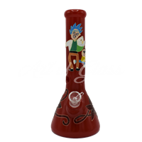 Picture of HAND PAINTED RICK + MORTY BEAKER (STYLE 6)