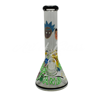 Picture of HAND PAINTED RICK + MORTY BEAKER (STYLE 9)