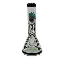 Picture of HAND PAINTED RICK + MORTY BEAKER (STYLE 10)
