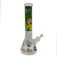 """Picture of 14"""" GREEN RICK + MORTY BEAKER"""