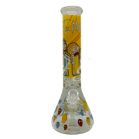 """Picture of 14"""" YELLOW RICK + MORTY BEAKER"""