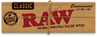 """Picture of RAW CLASSIC PAPERS 1 1/4"""" CONNOISSEUR (24ct)"""