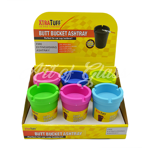 Picture of BUTT BUCKETS ASHTRAYS - NEON COLORED (6ct)