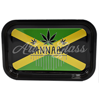 """Picture of MEDIUM JAMAICAN FLAG ROLLING TRAY 7""""x11"""""""