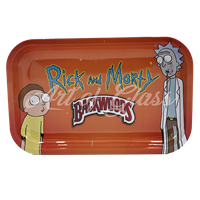 """Picture of MEDIUM ORANGE RICK & MORTY ROLLING TRAY 7""""x11"""""""