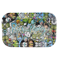 """Picture of MEDIUM RICK & MORTY STONED CHARACTERS ROLLING TRAY 7""""x11"""""""
