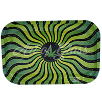 """Picture of MEDIUM TRIPPY LEAF ROLLING TRAY 7""""x11"""""""