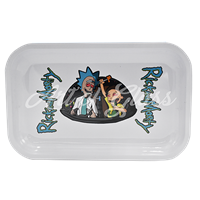 """Picture of MEDIUM WHITE RICK & MORTY ROLLING TRAY 7""""x11"""""""