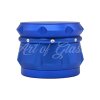 "Picture of 2.5"" CHROMIUM CRUSHER DRUM 4 PART GRINDER  BLUE"