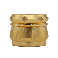 "Picture of 2.5"" CHROMIUM CRUSHER DRUM 4 PART GRINDER GOLD"