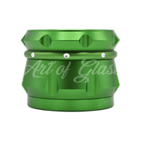 "Picture of 2.5"" CHROMIUM CRUSHER DRUM 4 PART GRINDER GREEN"