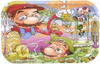 "Picture of MEDIUM MARIO & LUIGI ROLLING TRAY 7""x11"""