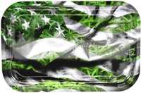 "Picture of MEDIUM LEAF AMERICAN FLAG ROLLING TRAY 7""x11"""