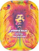 "SMALL JIMI HENDRIX PURPLE HAZE ROLLING TRAY 5""x7"""