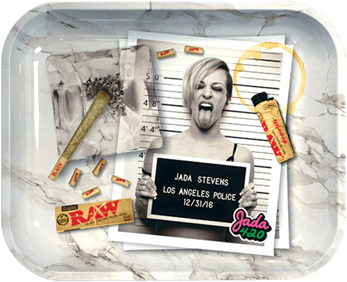 """Picture of LARGE RAW x JADA STEVENS ROLLING TRAY 11"""" x 13"""""""