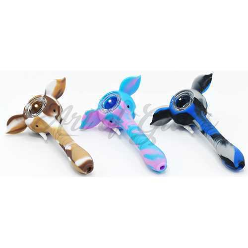 """Picture of 4"""" SILICONE ELEPHANT PIPE"""
