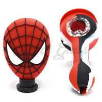 "Picture of 4"" SILICONE SPIDEY PERSON PIPE (COLOR SWIRL)"