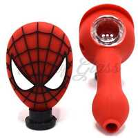 "4"" SILICONE SPIDEY PERSON PIPE (SOLID COLOR)"