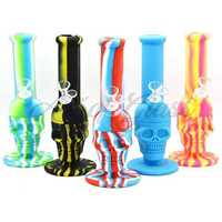 "Picture of 8"" SILICONE SKULL WATERPIPE"