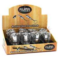 Picture of 12ct STAINLESS STEEL CIGAR PUNCH - TWO STYLE DISPLAY