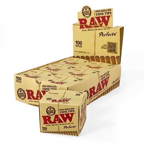 Picture of RAW PRE-ROLLED PERFECTO CONE TIPS 100ct