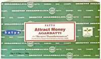 Picture of SATYA ATTRACT MONEY INCENSE STICKS 12pk 15g