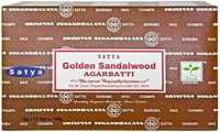 Picture of SATYA GOLDEN SANDALWOOD INCENSE STICKS 12ct 15g