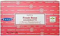 Picture of SATYA FRESH ROSE INCENSE STICKS 12ct 15g