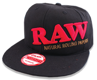 Picture of RAW SNAPBACK w BLACK & RED STITCHING