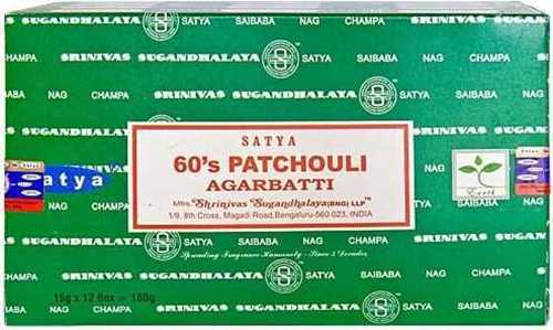 Picture of SATYA 60'S PATCHOULI INCENSE STICKS 12pk 15g
