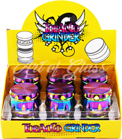 Picture of 55mm - 4 PART - SEVEN COLOR RIBBED GRINDER - 12ct DISPLAY