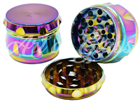 Picture of 55mm - 4 PART - SEVEN COLOR RIBBED GRINDER - SINGLE
