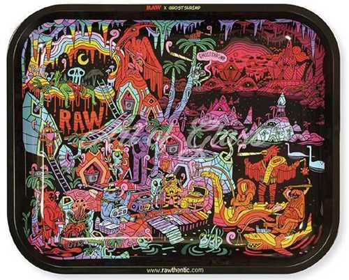 """Picture of LARGE RAW GHOST SHRIMP SERIES 2 ROLLING TRAY 11"""" x 13"""""""