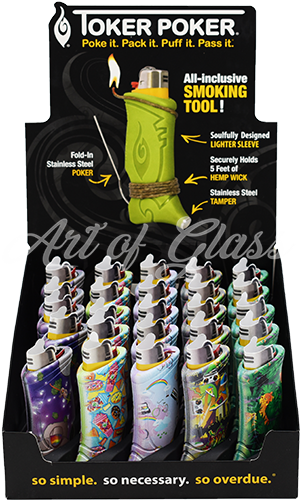 Picture of TOKER POKER FLASHBACK LIGHTER SLEEVE - 25ct DISPLAY