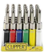 Picture of CLIPPER ELECTRONIC MINI TUBE 24CT LIGHTER DISPLAY METAL TOP
