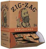Picture of ZIG-ZAG 1-1/4 UNBLEACHED ROLLING PAPERS 48CT DISPLAY BOX