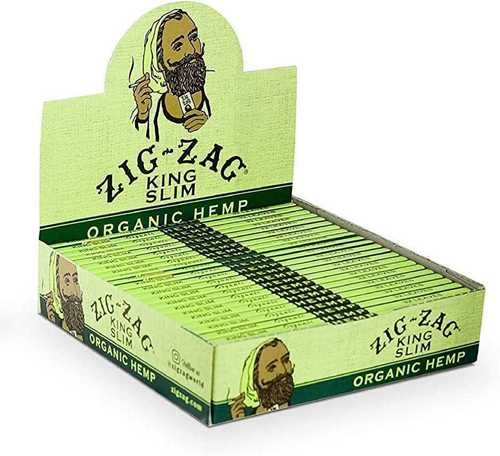 Picture of ZIG-ZAG KING SLIM ORGANIC HEMP ROLLING PAPERS 24ct