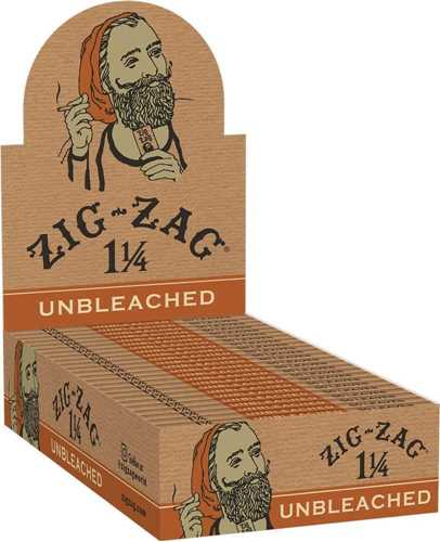 Picture of ZIG-ZAG  1-1/4 UNBLEACHED ROLLING PAPERS 24ct