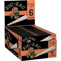 Picture of ZIG-ZAG 1-1/4 SIZE CONES ROLLING PAPERS 6 PACK - 24CT