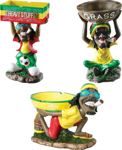 """Picture of 17"""" LARGE POLYRESIN RASTA ASH TRAY"""