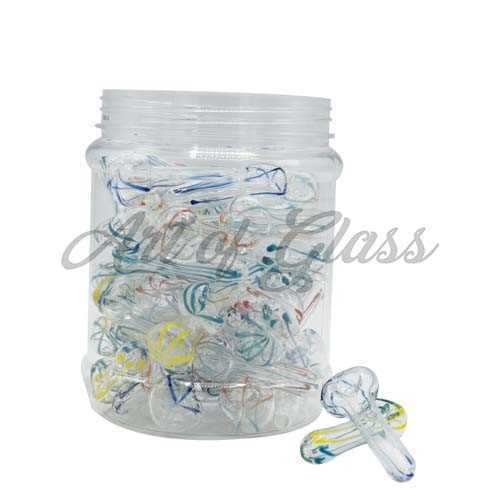 "Picture of 2.5"" PEANUT PIPE DISPLAY JAR - 50ct"