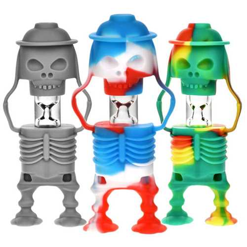 "Picture of 3.5"" SKELETON SOLDIER SILICONE & GLASS TASTER"