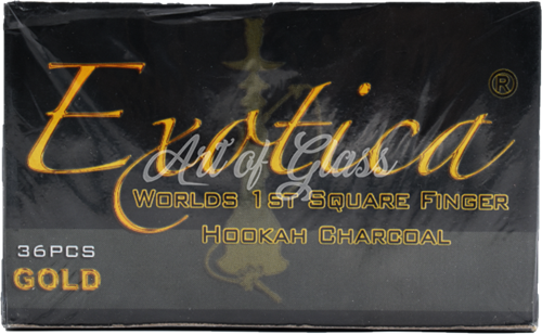 Picture of EXOTICA SQUARE FINGER HOOKAH CHARCOAL 36ct