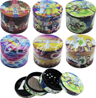 Picture of 53mm - 4 PART - RICK & MORTY HIGH QUALITY WRAP GRINDER