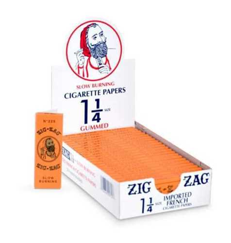 Picture of ZIG-ZAG 1-1/4 SLOW BURNING GUMMED ROLLING PAPERS - 24ct